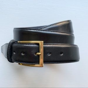 Brooks Brothers 42 Black Leather Belt
